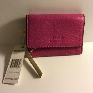Aimee Kestenberg gen leather Madrid French wallet